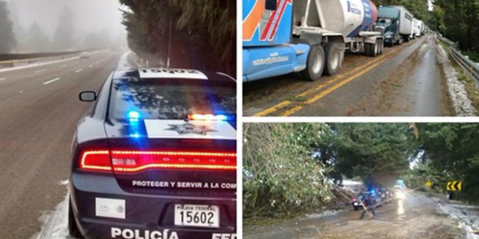 Nevadas afectan carreteras en varios estados del país