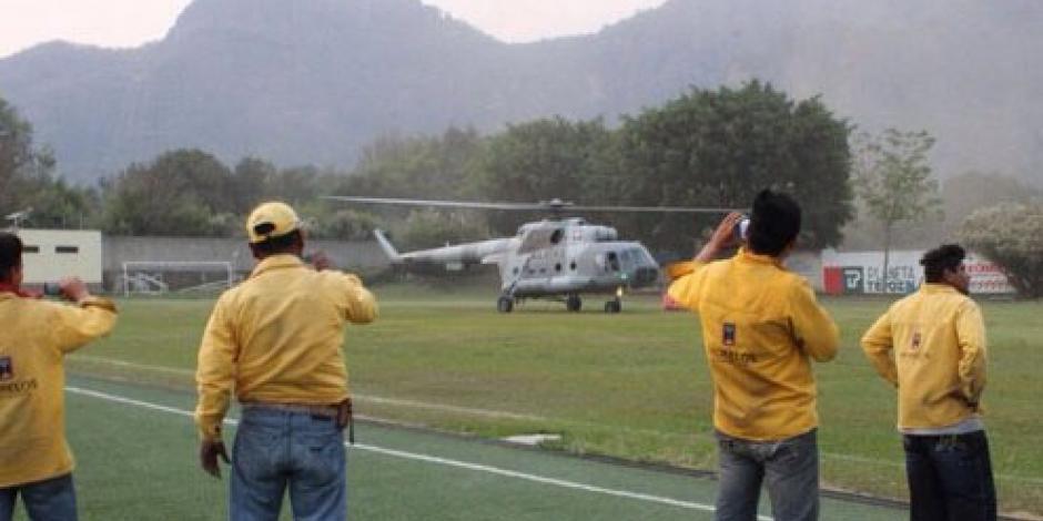 Reanuda Conafor acciones para combatir incendio en Tepoztlán