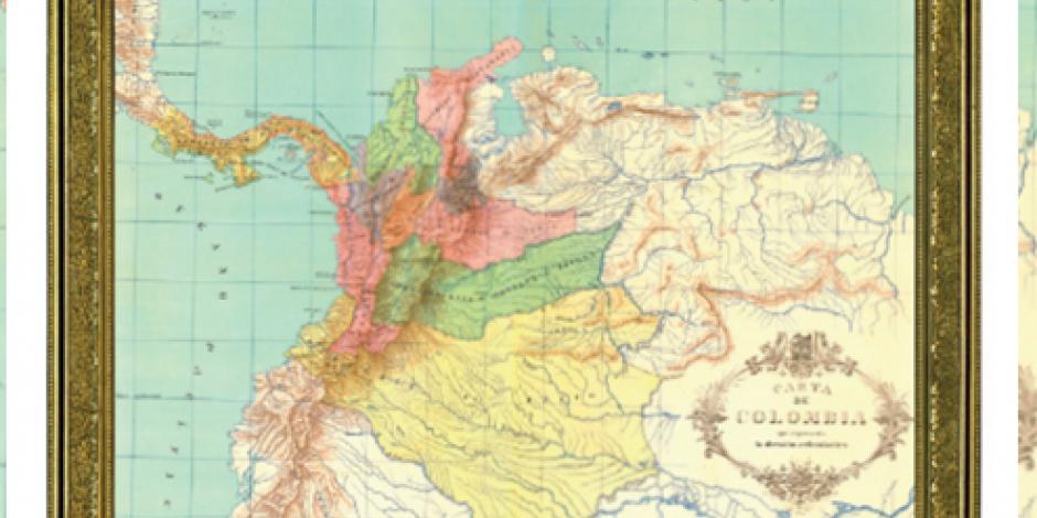 Atesora México mapas  de cuando Colombia se llamaba Nuevo Reino de Granada