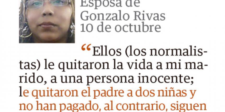 """""""Responde viuda de Rivas a la derecha"""""""