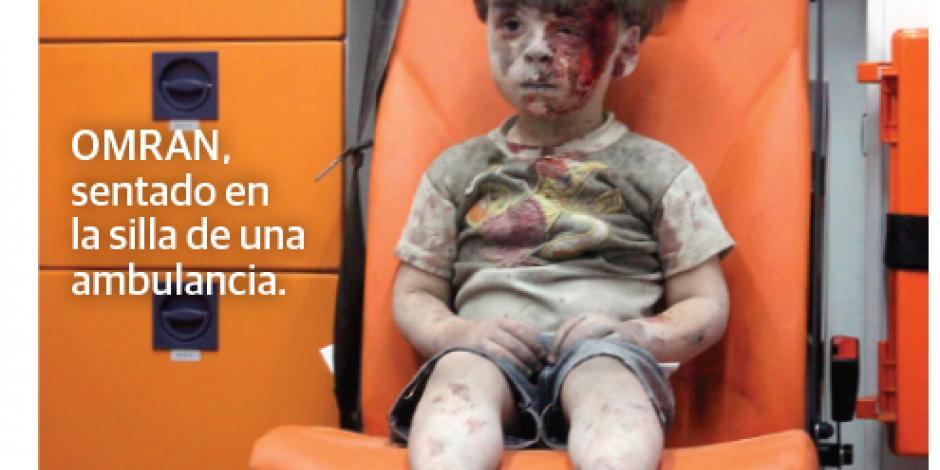 Omran, la cara del horror  por la guerra para ocho millones de niños en Siria