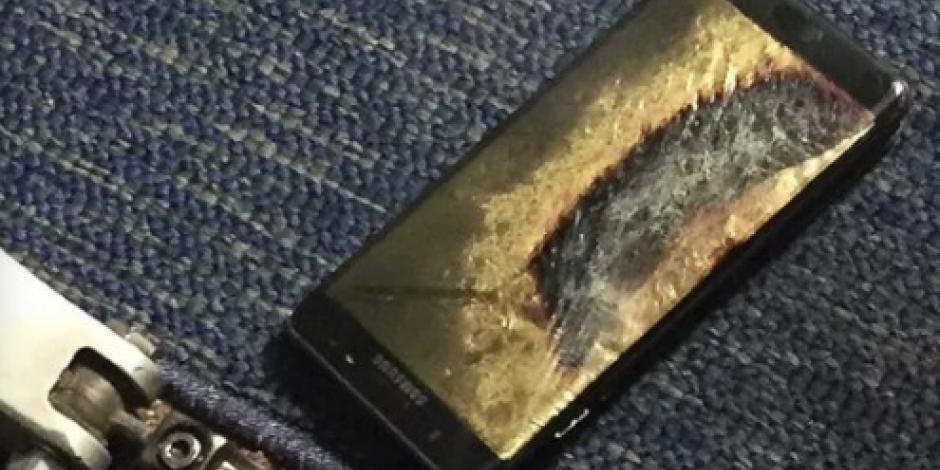 Desalojan avión en EU por explosión de Galaxy Note 7 reemplazado