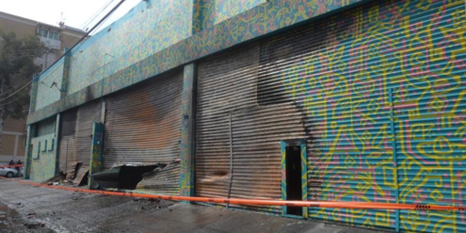Investiga PGJDF incendio en fábrica de zapatos de la Cuauhtémoc