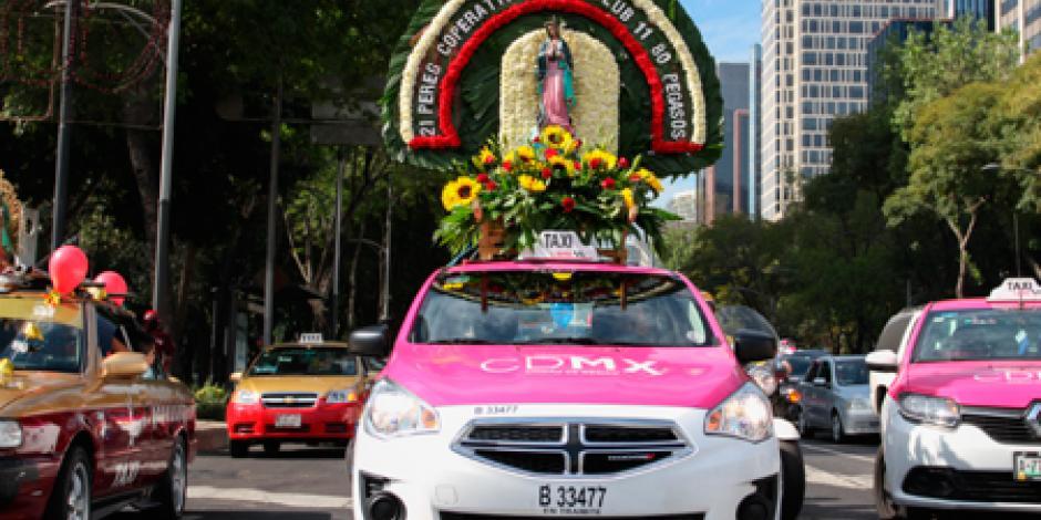 Taxistas peregrinan a la Basílica de Guadalupe