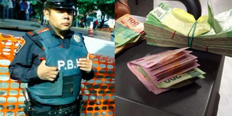 Él es Sergio Ángeles Soriano, el policía que devolvió 42 mil pesos