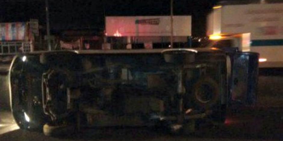 Deja volcadura 4 heridos en Libramiento Norte de Michoacán