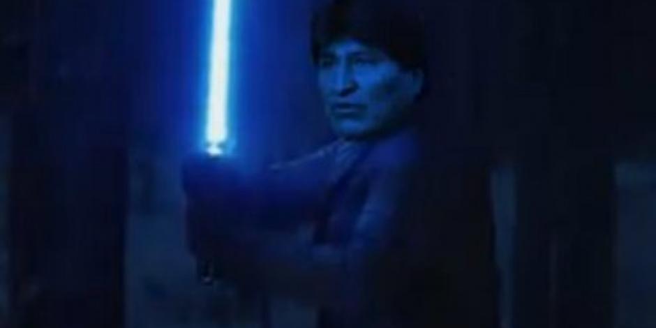 VIDEO  Evo Morales hace campaña de reelección con Star Wars
