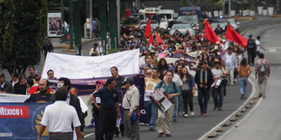 Prevén sólo una marcha en calles del DF