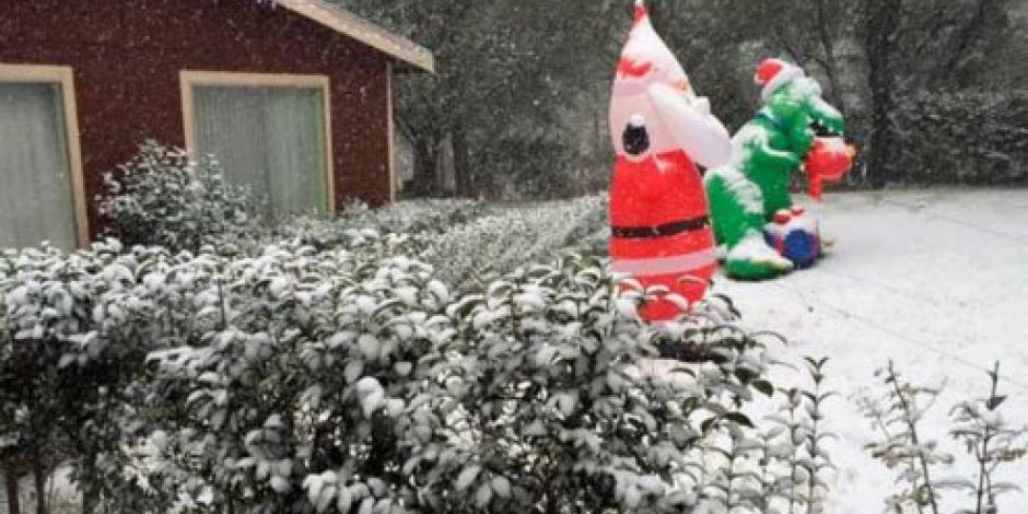 Tormenta invernal genera nevada en Sonora