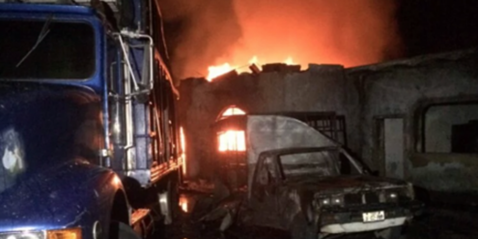 Tonalá en alerta por derrame de combustible que provocó incendio