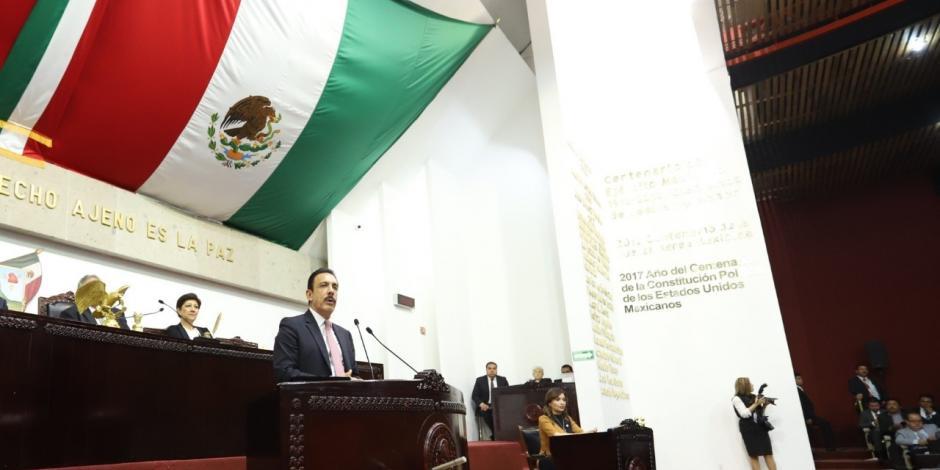 Omar Fayad en el Congreso local