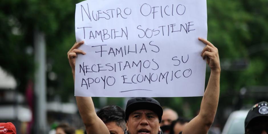 protesta fotográfos, COVID