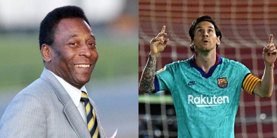 Pelé y Messi