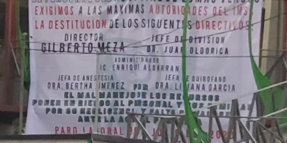 Protesta en el IMSS de Naucalpan