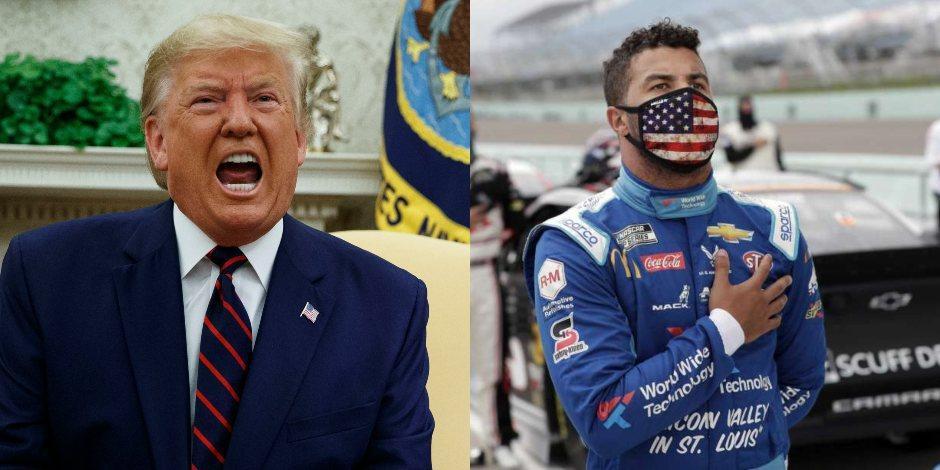 Trump arremete contra Wallace, piloto de NASCAR que presuntamente fue amenazado de muerte