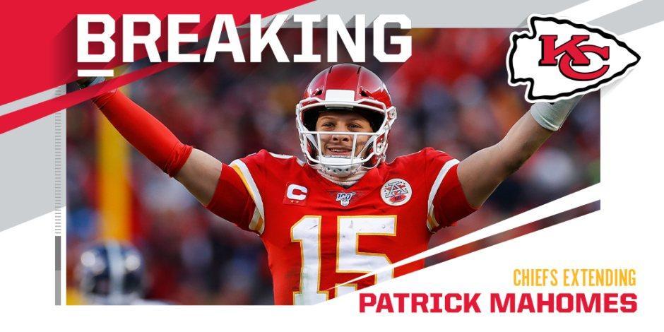 Patrick Mahomes acuerda contrato que lo vincula a los Chiefs por 10 años