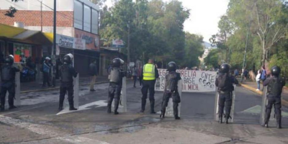 Protesta docentes nómina