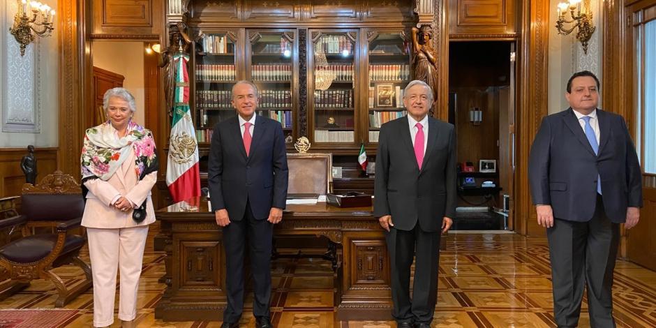 Andres Manuel Lopez Obrador, Carlos Mendoza Davis., Juan Manuel Carreras, Olga Sánchez Cordero, Conago