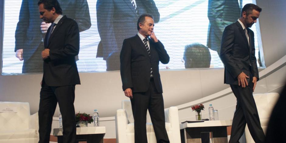 Emilio Lozoya, Pedro Joaquín Coldwell y Jorge Luis Lavalle