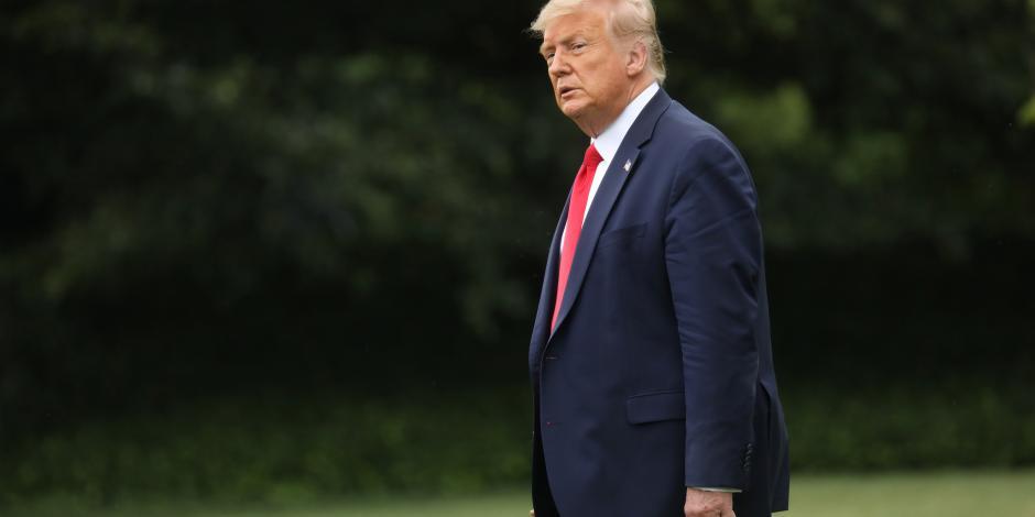 El Presidente de EU, Donald Trump