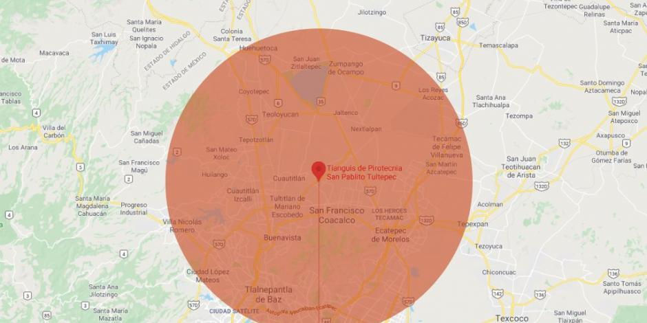 Onda expansiva si explosión de Beirut hubiera sido en México