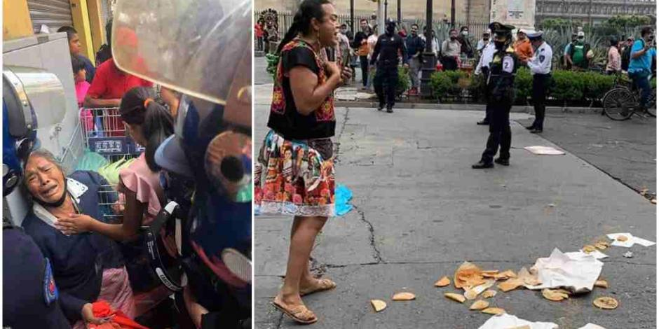 Altercados con comerciantes ambulantes en el Centro Histórico