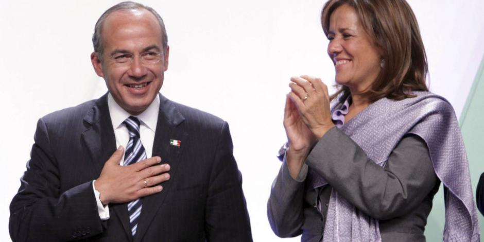 Felipe Calderón y Margarita Zavala.