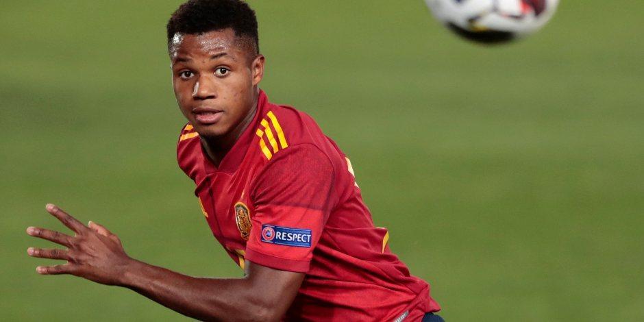 Ansu Fati, el jugador más joven en la historia de España en hacer gol con la selección