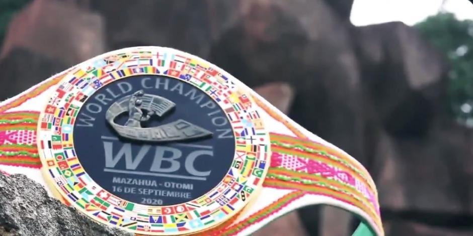 Cinturón pelea Chávez-Arce