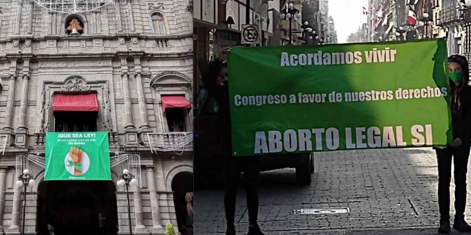Protestas aborto Puebla
