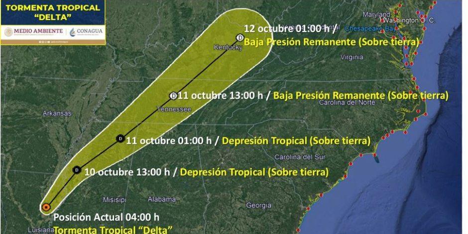 Delta se degrada a tormenta tropical