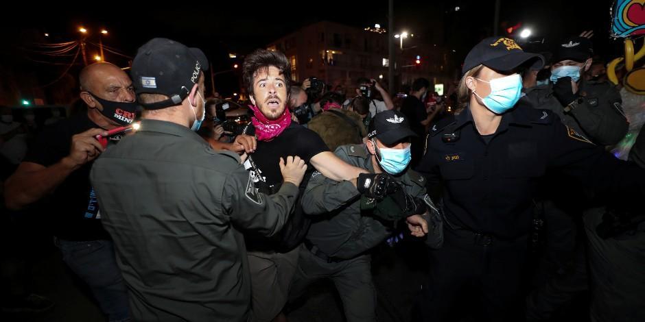 Protestas en Israel contra Benjamin Netanyahu