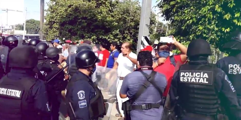 Manifestantes en Tabasco