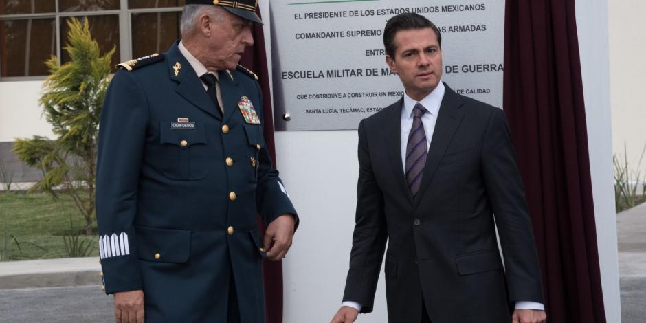 General Salvador Cienfuegos y el expresidente Enrique Peña Nieto