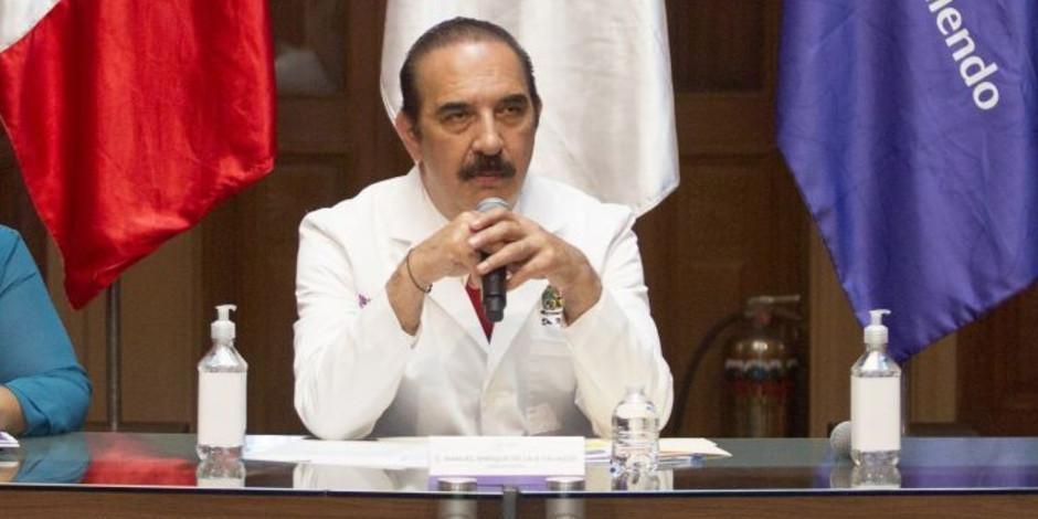 El secretario de Salud de Nuevo León, Manuel de la O Cavazos