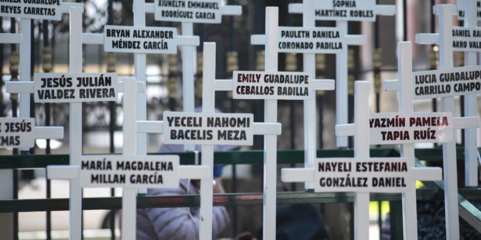 Antimonumento realizado por familiares de víctimas de la Guardería ABC