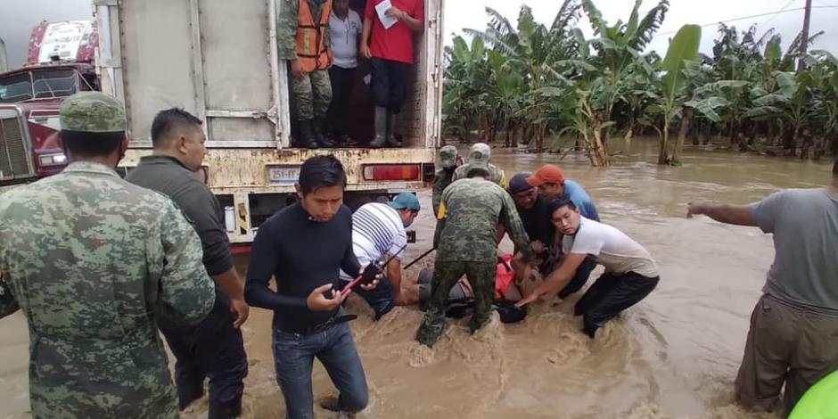 Evacuación en Teapa