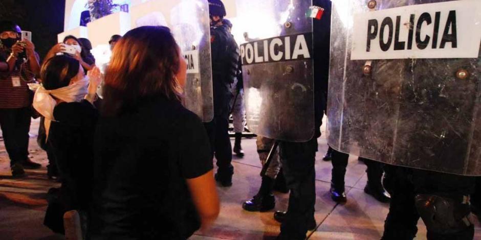 Represion en Cancun