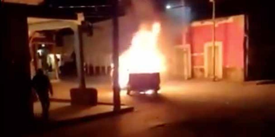 Patrulla quemada Texmelucan