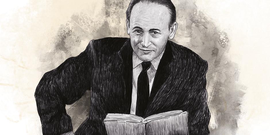 Ilustración  de Paul Celan, basada en una foto de archivo.