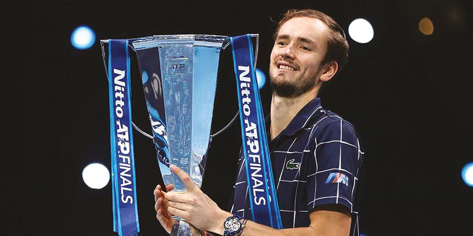 Daniil celebra el triunfo en la Copa Masters de la ATP.