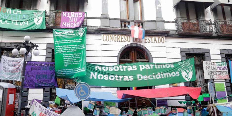 Feministas Congreso Puebla