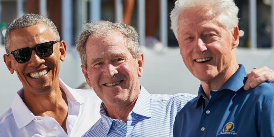 Barack Obama, George Bush y Bill Clinton
