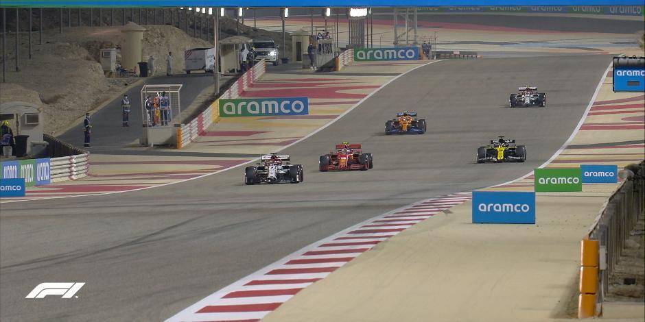 Fórmula 1: Así largarán los pilotos en el Gran Premio de Sakhir