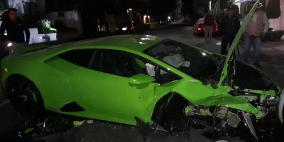 Conductor del Lamborghini chocado en Polanco se presenta ante la FGJCDMX