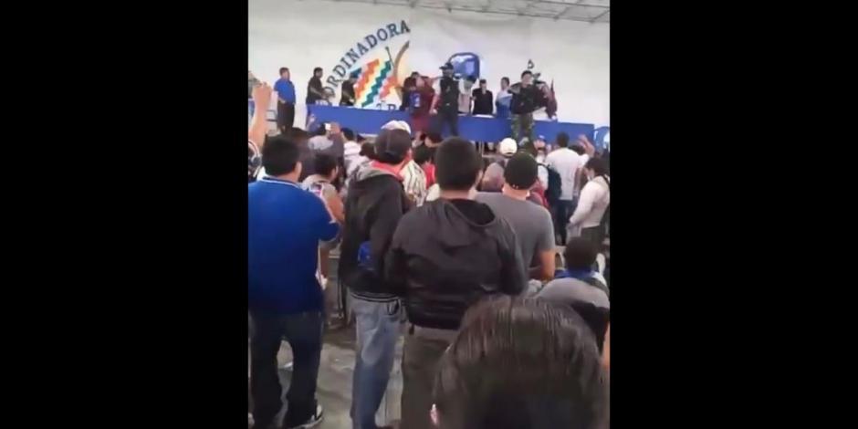 Sillazo a Evo Morales