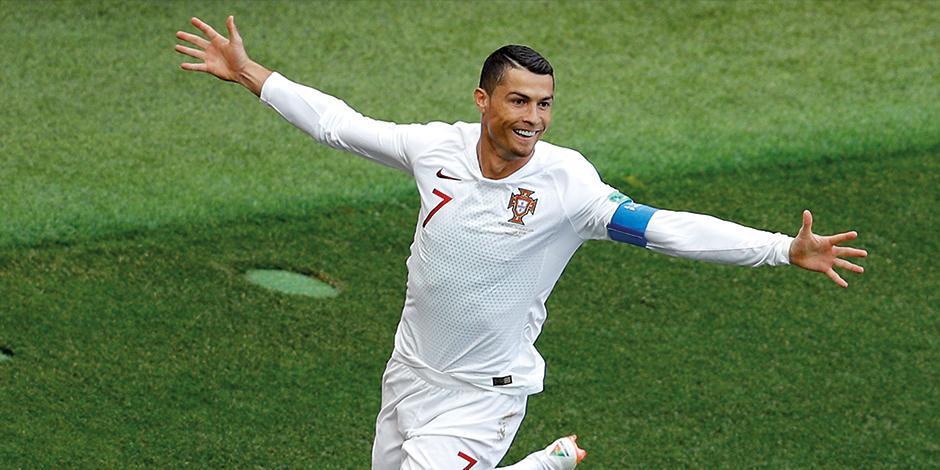 Ronaldo, en un partido con la selección lusitana.