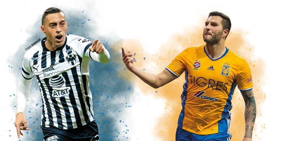 Gignac festeja un gol con los Tigres de la UANL.