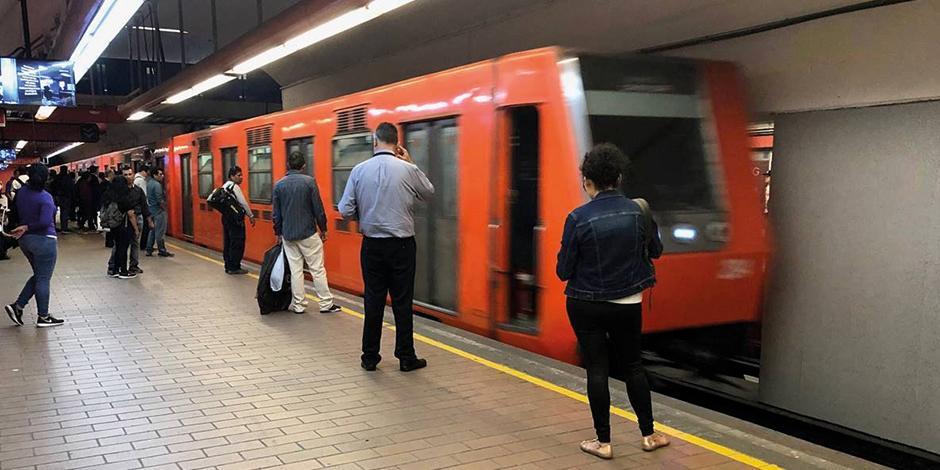 Foto del metro de la CDMX, línea 7