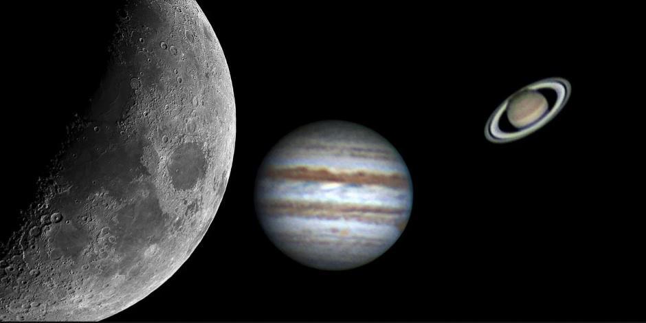 conjuncion Júpiter Saturno y Mercurio